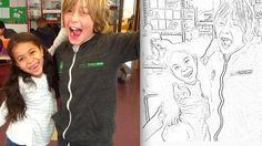 How to Make a Coloring Book Out of Classroom Photos - would be a fun end of year activity!