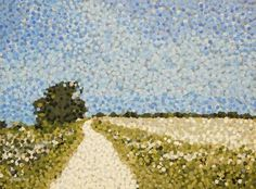 """Saatchi Art Artist Andrew Francis; Painting, """"The Cotswold Way, Hawkesbury Upton"""" #art"""