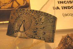 """""""Pavone""""- bracciale - incisioni da indossare www.ilgiardinodellacerorosso.com"""