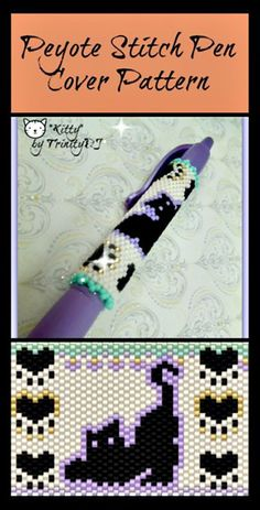 """""""Kitty"""" Beaded Pen Cover Pattern 