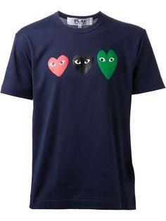 Play Comme des Garçons | Blue Heart Print T-shirt for Men | Lyst