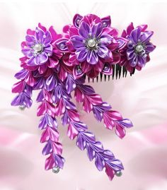 Flower Blossom Tsumami Kanzashi Comb