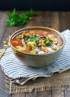 """Get your diet back on track with this Slow Cooker """"Cabbage Patch"""" Detox Soup! You only need 10 minutes to toss the ingredients into a Crock Pot; you'll come home to a healthy dinner or easy lunch that's high in protein, full of filling fiber, and loaded with nutritious veggies!"""