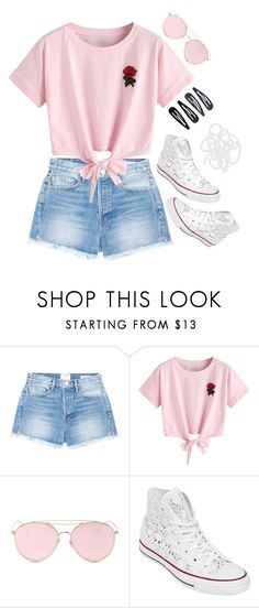 """Rose summer day"" by voliegrl ❤ liked on Polyvore featuring L K, Frame, WithChic, LMNT, Converse and Accessorize"