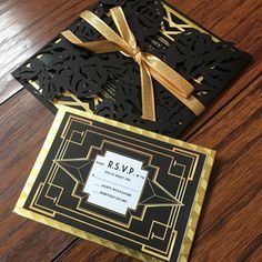 The Great Gatsby Invitations by ThePaperStylist on Etsy
