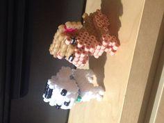 Perros hecho con hama beads