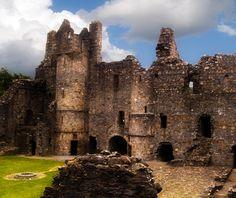 Scotland's Balvenie Castle, Remnants of a long abandoned Scottish Castle near Dufftown Scotland