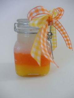 Candycorn SUGAR SCRUB!!!  How cute!