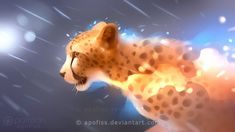 I did various cheetah study sketches and managed to finish one into a finished painting, a simple sideview which would fit nicely for a wallpaper c: Full HD WALLPAPER version available on my Patreo...