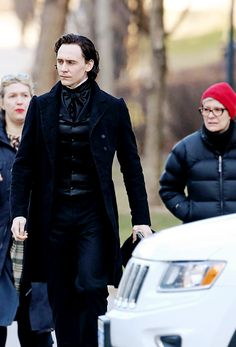 Hiddleston in costume on Crimson Peak set. This is not a drill.