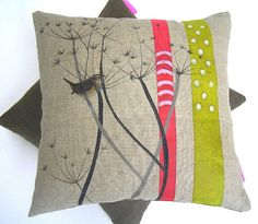 I've just found Cow Parsley Cushion. This exquisite cushion is directly inspired by the world around me depicts a little Jenny wren in amongst the cow parsley.. £82.00