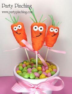 Cute Carrot Rice Krispie Treats