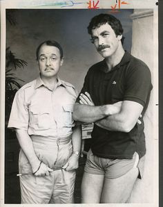 1982 Magnum P I Tom Selleck John Hillerman 7 x 9 B w Original Press Photo