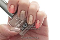 Peach and Nude Glitter Ombre nails by funkyfingersart - Nail Art Gallery nailartgallery.nailsmag.com by Nails Magazine www.nailsmag.com #nailart