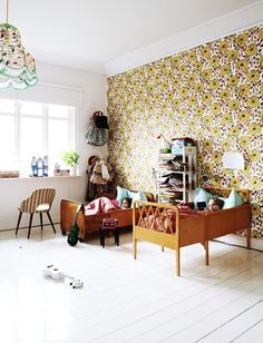 petitspetitstresors: Nice shared kids room (via Mokkasin)