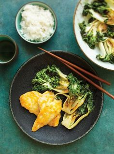 {MADE} Sesame Bok Choy - didn't like bok choy Gourmet Recipes, Cooking Recipes, Healthy Recipes, Seafood Recipes, Bok Choy Recipes, Ricardo Recipe, Confort Food, Clean Eating, Healthy Eating