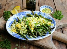 Summery Asparagus Gribiche for Brunch - this easy to make recipe makes an elegant and tasty brunch or luncheon dish when asparagus is in season.