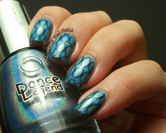 The Clockwise Nail Polish: StampAholics ST03 plate & Dance Legend High Voltage