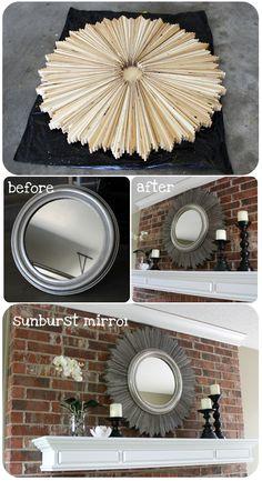 Los espejos son una parte muy importante de la decoración, por eso, te damos esta idea para darle un cambio de imagen a ese espejo redondo que tienes en tu casa.