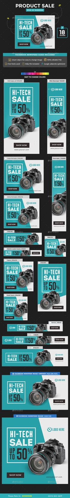 Product Sale Banners Template PSD. Download here: http://graphicriver.net/item/product-sale-banners/15336087?ref=ksioks