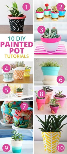 DIY Painted Pot Tutorials