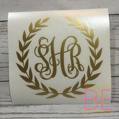 Metallic Gold Laurel Wreath Fancy Vine by BridgesOfExpression