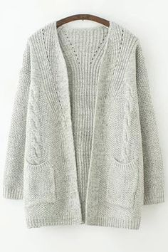 Pure Color Long Sleeves Cardigan
