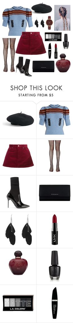 """""""Untitled #65"""" by haylee0110 on Polyvore featuring Venus, Miu Miu, Marc Jacobs, Music Legs, Burberry, Givenchy, NYX, Christian Dior, Max Factor and Nine West"""