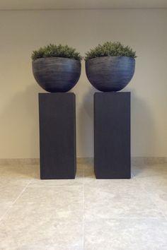 Boden in Bahnen Grigio Alpi Pedestal, Planter Pots, Decor, Construction Materials, Natural Stones, Garden Sheds, Floor, Projects, Dekoration
