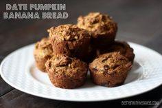 Date Pumpkin Banana Bread #vegan #breakfast #snack