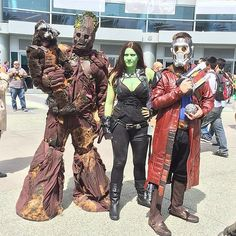 The family that cosplays as the Guardians of the Galaxy together stays together.