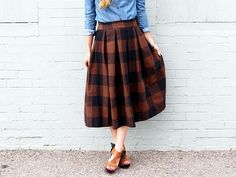 Tutoriel DIY: Coudre une jupe mi-longue plissée via DaWanda.com