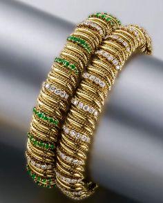 2 18K Gold Bracelets by Van Cleef & Arpels