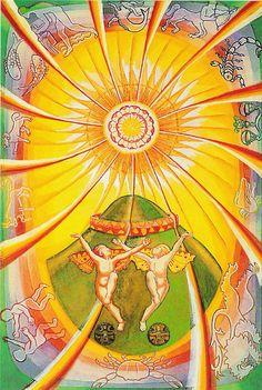 Major Arcana: 19 - The Sun, Thoth Tarot
