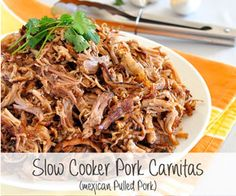 Slow Cooker Pork Carnitas (Mexican Pulled Pork)