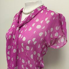 Pink and White Polka Dot Blouse This blouse is so sweet and I love  the detail . Next Tops Blouses