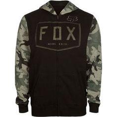 Fox block letter embroidery across front. Fleece Hoodie, Hoodie Jacket, Sweater Hoodie, Hooded Sweatshirts, Camo Hoodie, Cool Hoodies, Men's Hoodies, Jogging, Country Style Outfits