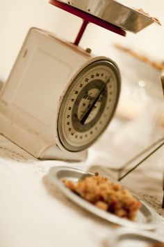 Vintage scale with a pie on top :)