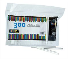 LolliZ 4 in. Lollipop Sticks 300 Count ** Learn more by visiting the image link.
