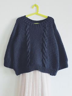 KNIT PATTERN in english and french - Sweater ROCKY