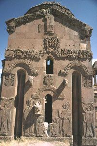 The Church of the Holy Cross on Akdamar Island, in Turkey, was a medieval cathedral of the Armenian Apostolic Church