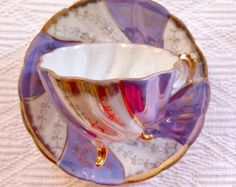 Japanese Handpainted Footed Teacup and Saucer - Edit Listing - Etsy