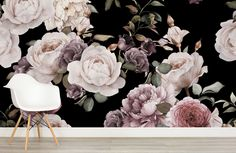 purple-and-pink-dark-floral-room