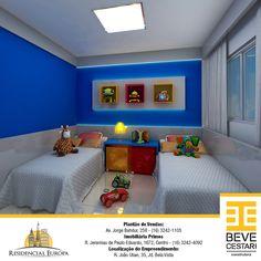 Preparamos uma simulação de como você poderá decorar o quarto das crianças no apartamento. O Residencial Europa é um empreendimento que oferece 73m² com 2 quartos, sendo 1 suíte, além de uma bela piscina, playground, quiosque e salão de festas. Venha conferir mais sobre esse novo residencial perfeito para sua família. Estamos te aguardando! Plantão de Vendas: Av. Jorge Bahdur, 258 - (16) 3242-1105 Imobiliária Primos R. Jeremias de Paulo Eduardo, 1672, Centro - (16) 3242-4092 Localização do