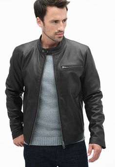 1cd855f9b 17 Best Men's Leather Jackets images in 2016 | Leather men, Cafe ...