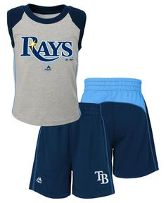 Majestic Toddlers' Tampa Bay Rays Tank and Shorts Set