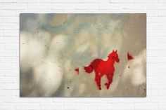 Red horse street art photography print 8x10 by hayagold on Etsy, $12.00