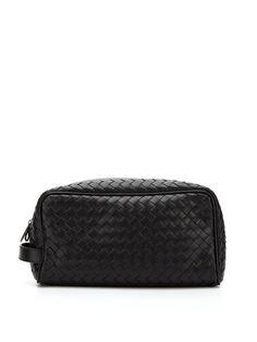 Woven Pouch by Bottega Veneta, Great Looking Dopp Kit in Black.