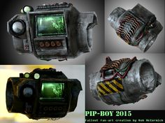 PIP-BOY 2015 - created in Max, ZBrush, Quixel Suite, Photoshop, Rendered in Marmoset Toolbox Stranger Of Sword City, Fallout Fan Art, Pip Boy, Boy Art, Illustrations And Posters, Zbrush, Photoshop, Art Pics, 3ds Max