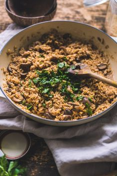 an Brown Rice Mushroom Risotto / Miso Paste - fannythefoodie Vegan Dinner Recipes, Vegan Dinners, My Recipes, Vegetarian Recipes, Healthy Recipes, Mushroom Risotto, Brown Rice, Eating Plans, Vegan Gluten Free